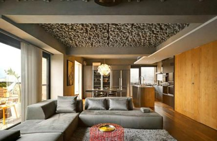 福州160平復式樓簡約工業風裝修,時尚家居設計