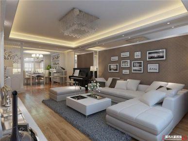 青岛珑台美式风格三居室装修效果图
