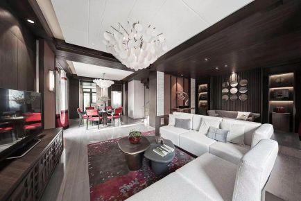 福州古典新中式风格别墅装修案例效果图