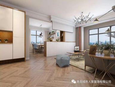 青島依山伴城現代簡約三居室裝修效果圖