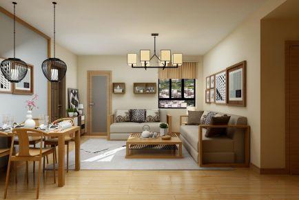 青岛银座小区三居室日式风格装修效果图