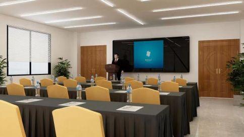 東莞時尚大氣現代風格會議室裝修效果圖