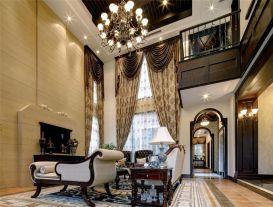 杭州华景湾复古美式风格别墅装修设计效果图