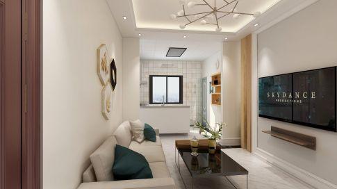 哈爾濱歐洲新城簡歐風格二居室裝修效果圖展示