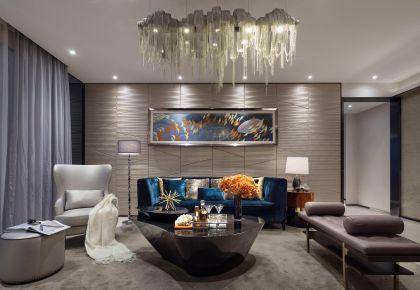 南昌現代輕奢風格三居室裝修,精致創意生活!
