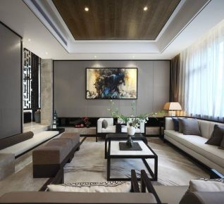 南昌古典雅致中式風格別墅裝修,永不逝去的高貴質感