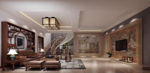 福州轻奢新中式风格别墅装修,彰显时光浸润的东方韵味!