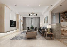 中山现代轻奢三居室装修案例效果图