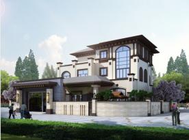 中山古典雅致新中式风格别墅装修案例