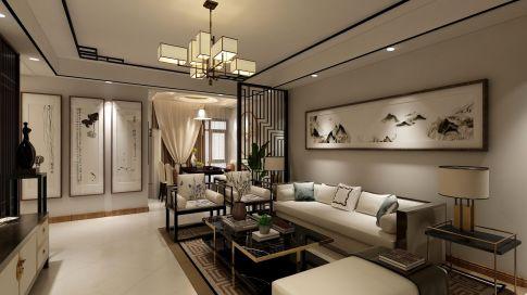 鄭州雅致新中式風格三居裝修效果圖展示