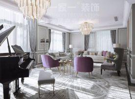 太化紫景天城132平米法式风格装修案例