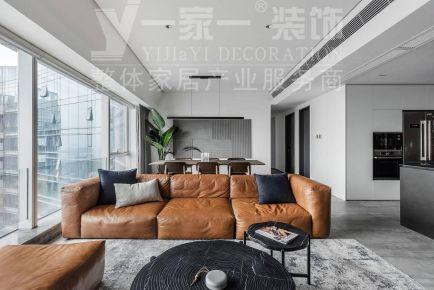 太華潤昆侖域150平米三居現代簡約風格裝修案例
