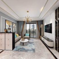 輕奢現代風格四居室裝修設計案例,別具一格的時尚風情