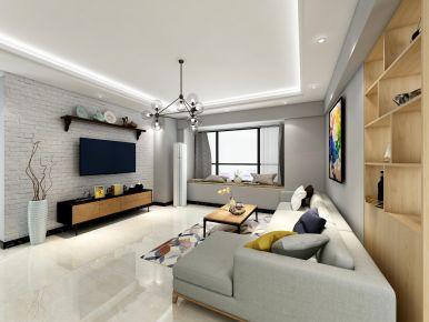 現代簡約四居室裝修設計案例,時尚大氣有格調