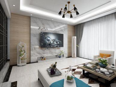 時尚現代簡約四居室裝修設計案例