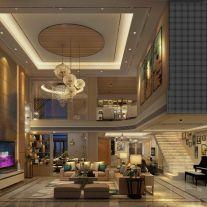 中山.时代白朗峰创意混搭风复式楼装修,品味精致生活