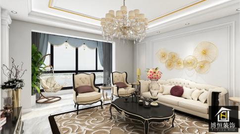 昆明簡歐風格三居裝修,道不盡的繁華與美!