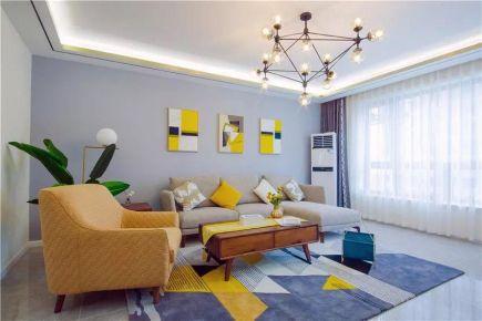 西安现代简约风格两室一厅装修效果图展示