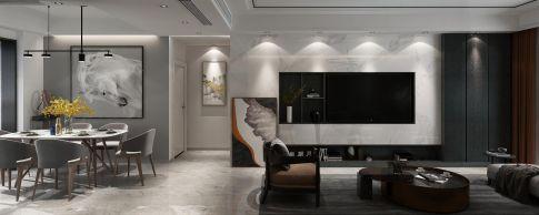 泉州现代简约时尚三室装修,黑白灰呈现纯粹本质