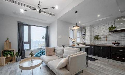 西安简约北欧风50㎡公寓装修设计案例