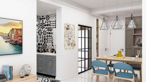 蘇州現代簡約時尚大氣三居室裝修設計案例