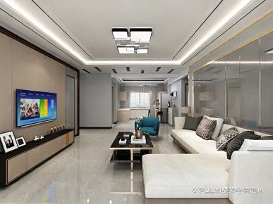 煙臺現代輕奢風格三居室裝修,質感有格調