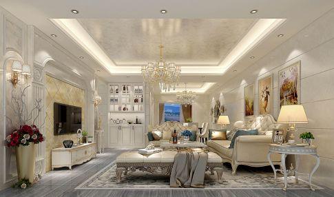 东莞欧式风格四居室装修,暖色调点缀空间,让空间更温馨舒适!