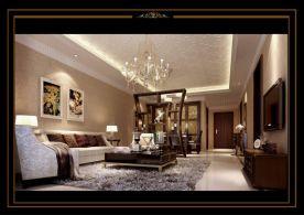 东莞御城花园123平简美风格二居室装修