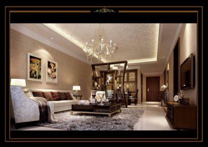 東莞御城花園123平簡美風格二居室裝修