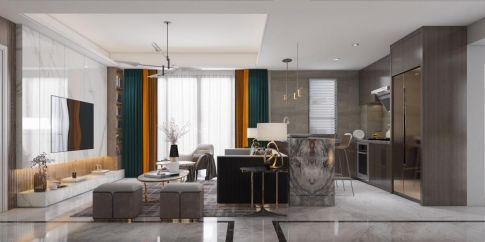 广州现代轻奢三居室装修,精致高端有态度