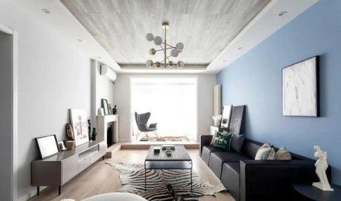 西安135㎡北歐風格大戶型二居室裝修效果圖