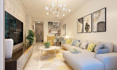 太原肖邦國際88㎡現代簡約風格二居室裝修效果圖案例展示