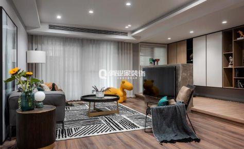 華宇御瀾灣300平米疊拼現代混搭風格裝修作品案例