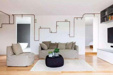 青岛现代简约三居室装修效果图