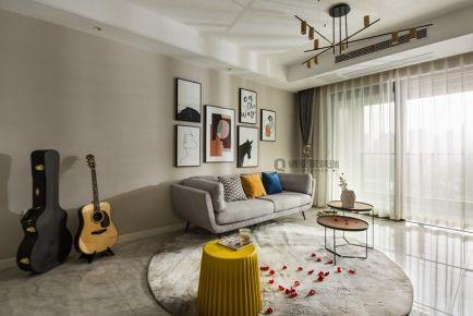 重庆江山樾3房简约现代风格装修设计案例作品