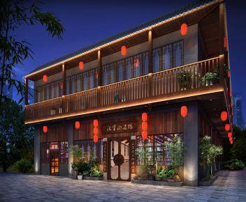 中国风风格汉室酒道馆