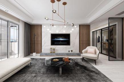 淮安现代简约三居室装修案例