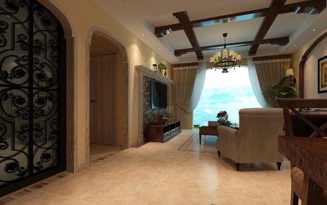 淮安美式风格三居室装修案例