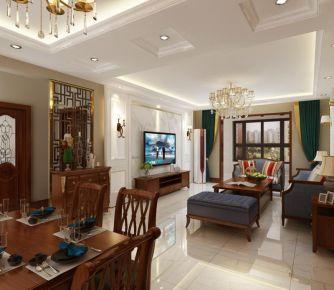 天津新中式二居室裝修