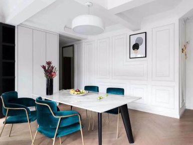 河北石家庄紫苹果装饰现代简约幸福城90平两室一厅效果图