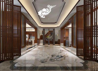 青島典雅新中式別墅裝修
