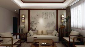 鄭州典雅新中式風格三居裝修案例