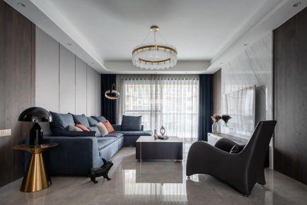 重慶恒大御龍天峰4房現代風格裝修設計作品案例