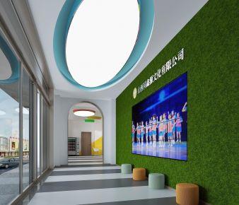 现代风格办公室装修,色彩与艺术的结合