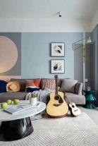 河北石家莊紫蘋果裝飾半島名邸103平兩室一廳簡約風格