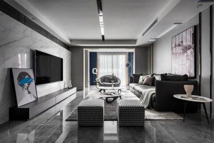 重慶下長嘉匯4房現代風格裝修設計作品案例