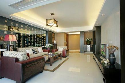 中式風格三居室裝修案例效果圖