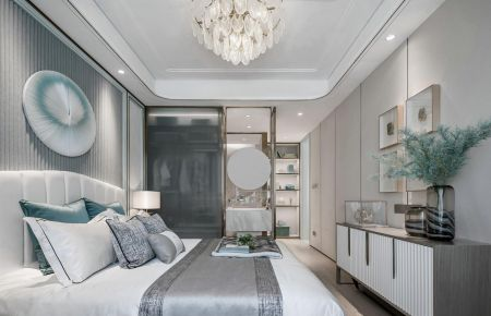 现代轻奢三居室装修案例效果图