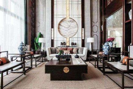 福州典雅新中式風格三居室裝修