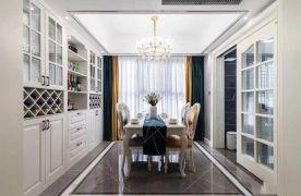 河北石家莊紫蘋果裝飾匯君城110平歐式三室兩廳案例圖